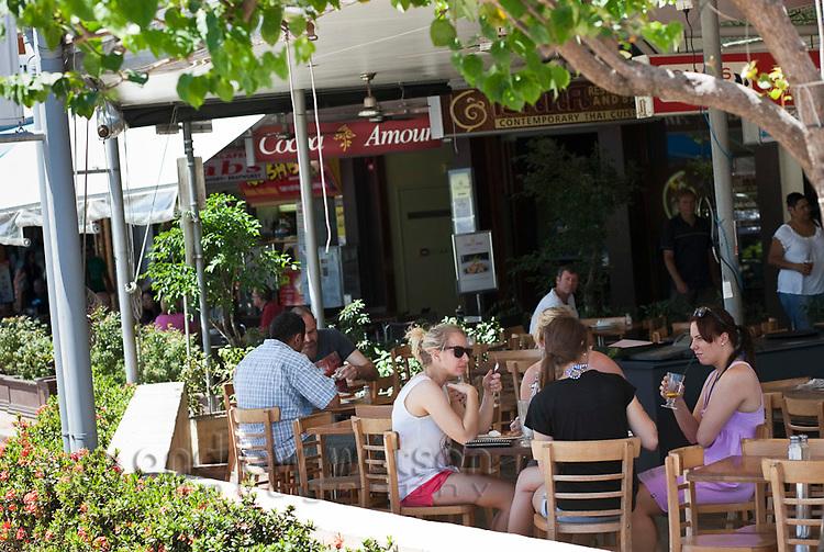 Cafe on the Esplanade.  Cairns, Queensland, Australia