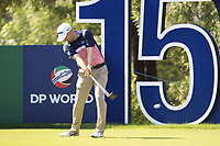 Russell Knox (SCO) on the 15th tee during the final round of the DP World Tour Championship, Jumeirah Golf Estates, Dubai, United Arab Emirates. 18/11/2018<br /> Picture: Golffile | Fran Caffrey<br /> <br /> <br /> All photo usage must carry mandatory copyright credit (© Golffile | Fran Caffrey)