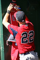 April 14, 2010:  Outfielder Josh Reddick of the Pawtucket Red Sox signs autographs before a game at Coca-Cola Field in Buffalo, New York.  Pawtucket is the Triple-A International League affiliate of the Boston Red Sox.  Photo By Mike Janes/Four Seam Images