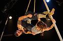 London, UK. 11.01.2016. Ockham's Razor present TIPPING POINT, at Platform Theatre, as part of the London International Mime Festival. Picture shows: Alex Harvey, Emily Nicholl. Photograph © Jane Hobson.
