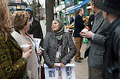 Sheba Begum, Westbourne Neighbourhood Forum, and Karen Buck MP. Westbourne Parade after shopfront, pavement and street furniture improvement scheme.