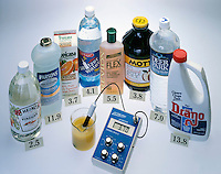 TESTING pH OF COMMON HOUSEHOLD PRODUCTS<br />