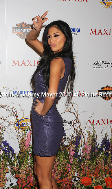 LOS ANGELES, CA. - May 19: Nicole Scherzinger of The Pussycat Dolls arrives at the 11th Annual MAXIM HOT 100 Party at Paramount Studios on May 19, 2010 in Los Angeles, California.