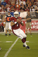 Aug. 31, 2006; Glendale, AZ, USA; Arizona Cardinals quarterback (7) Matt Leinart against the Denver Broncos at Cardinals Stadium in Glendale, AZ. Mandatory Credit: Mark J. Rebilas