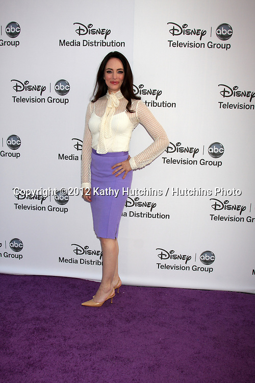 LOS ANGELES - MAY 20:  Madeline Stowe arrives at the ABC / Disney International Upfronts at Walt Disney Studios Lot on May 20, 2012 in Burbank, CA