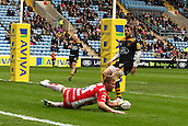 01.03.2015.  Coventry, England.  Aviva Premiership. Wasps versus Gloucester Rugby.  Ross Moriarty  (Gloucester) scores the first try