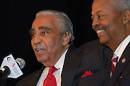 September22,2011  (Washington, DC)  Representative Charles B. Rangel (NY-10) (left) and Representative Donald M. Payne (NJ-10) share a moment at the 41st Annual Legislative Conference of the Congressional Black Caucus Foundation.  (Photo by Don Baxter/Media Images International)