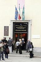 L'entrata del Cenacolo Vinciano, a Milano.<br /> The entrance of the Cenacolo Vinciano in Milan.<br /> UPDATE IMAGES PRESS/Riccardo De Luca