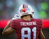Stanford, CA - September 21, 2019: Brycen Tremayne at Stanford Stadium. The Stanford Cardinal fell to the Oregon Ducks 21-6.