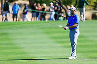 Jon Rahm (ESP) on the 3rd during the 2nd round of the Waste Management Phoenix Open, TPC Scottsdale, Scottsdale, Arisona, USA. 01/02/2019.<br /> Picture Fran Caffrey / Golffile.ie<br /> <br /> All photo usage must carry mandatory copyright credit (© Golffile | Fran Caffrey)