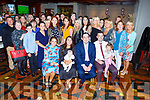 The christening of baby Grace Ennis from Tralee in the Meadowlands Hotel on Saturday night.     <br /> L-r, Diane and Laura Baker, Grace, Donal, Michael and Orlaith Ennis.