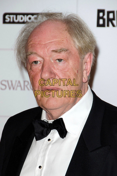 Michael Gambon.Moet British Independent Film Awards at Old Billingsgate, London, England..December 9th 2012.headshot portrait black white bow tie.CAP/ROS.©Steve Ross/Capital Pictures..