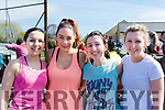Margaret O'Doherty, Sharon O'Malley, Maura O'Doherty & Michelle O'Leary make their final preparations before taking part in the Glounaguillagh N.S Caragh Lake 10K fun run