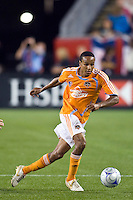 Houston Dynamo midfielder Ricardo Clark (13). The New England Revolution defeated the Houston Dynamo 2-2 (6-5) in penalty kicks in the SuperLiga finals at Gillette Stadium in Foxborough, MA, on August 5, 2008.