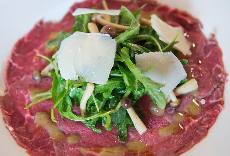 UNITED STATES - JULY 18: Beef carpaccio is pictured at Ninnella, located across from Lincoln Park on Capitol Hill. (Photo By Tom Williams/CQ Roll Call)