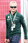 11.05.2013 Barcelona. Formula 1. Spanish Grand Prix. Picture show Caterham driver Van Der Garde entrance at Circuit de Catalunya