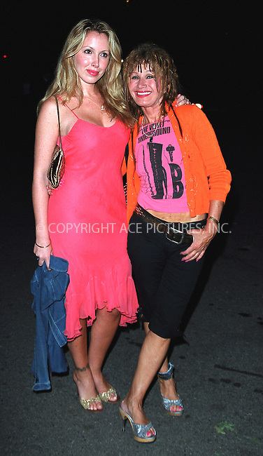 BETSEY JOHNSON with daughter LULU JOHNSON attend amfAR's 11th Annual Boathouse Rock event at Tavern on the Green. New York, June 17, 2002. Please byline: Alecsey Boldeskul/NY Photo Press.   ..*PAY-PER-USE*      ....NY Photo Press:  ..phone (646) 267-6913;   ..e-mail: info@nyphotopress.com