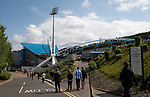 Fans walking to the stadium during the English Championship play-off 1st leg match at the John Smiths Stadium, Huddersfield. Picture date: May 13th 2017. Pic credit should read: Simon Bellis/Sportimage