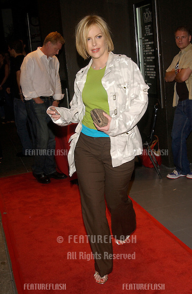 KATE WAGNER at concert by Duran Duran at The Roxy in Los Angeles where they were performing in their first US concert in 18 years. .July 15, 2003