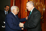 Turkish President Tayyip Erdogan meets with Palestinian President Mahmoud Abbas in Istanbul, Turkey, December 13, 2017. Photo by Thaer Ganaim