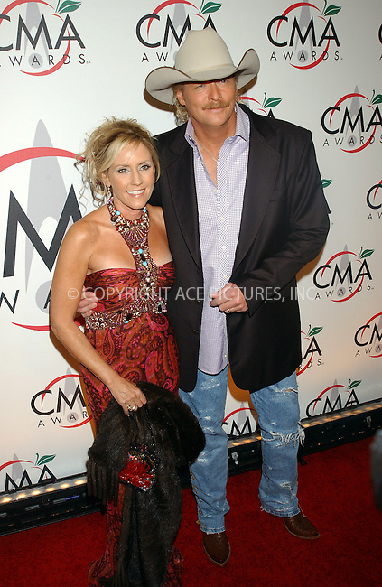 WWW.ACEPIXS.COM . . . . .....NEW YORK, NOVEMBER 15, 2005....Alan Jackson and wife arriving to the 39th Annual Country Music Awards held at Madison Square Garden. ....Please byline: KRISTIN CALLAHAN - ACE PICTURES.. . . . . . ..Ace Pictures, Inc:  ..Philip Vaughan (212) 243-8787 or (646) 679 0430..e-mail: info@acepixs.com..web: http://www.acepixs.com