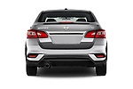 Straight rear view of 2016 Nissan Sentra SR 4 Door Sedan Rear View  stock images