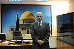 Palestinian Chief Negotiator Saeb Erekat, at his office in Ramallah, West Bank.<br /> <br /> Photo by Ahikam Seri