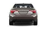 Straight rear view of 2017 Toyota Corolla LE-Eco-AT 4 Door Sedan Rear View  stock images