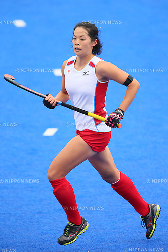 Mayumi Ono (JPN), <br /> SEPTEMBER 26, 2014 - Hockey : <br /> Women's Preliminary <br /> between Kazakhstan Women's 0-8 Japan Women's <br /> at Seonhak Hockey Stadium <br /> during the 2014 Incheon Asian Games in Incheon, South Korea. <br /> (Photo by YUTAKA/AFLO SPORT)