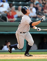 May 22, 2008: Catcher Austin Romine (16) of the Charleston RiverDogs, Class A affiliate of the New York Yankees, in a game against the Greenville Drive at Fluor Field at the West End in Greenville, S.C. Photo by:  Tom Priddy/Four Seam Images