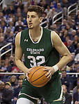 Colorado State's Nico Carvacho plays against Nevada in the first half of an NCAA college basketball game in Reno, Nev., Sunday, Feb. 25, 2018. (AP Photo/Tom R. Smedes)