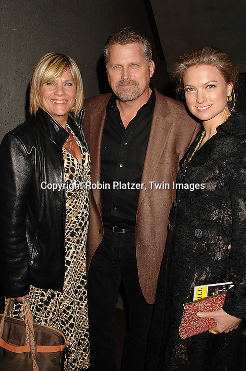 "Kim Zimmer, Nicole Forester and Robert Newman..at The Opening night of the new Off-Broadway Musical ""Frankenstein""  on November 1, 2007 at The 37 Arts Theatre and at the party at Studio 450. Mandy Bruno of Guiding Light is one of the stars of the show. ....Robin Platzer, Twin Images..212-935-0770"