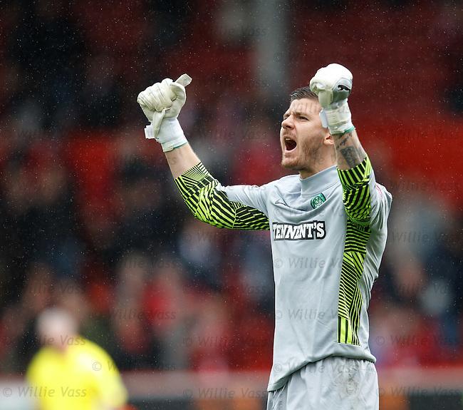 Lukasz Zaluska celebrates at the final whistle