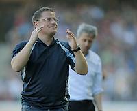 FUSSBALL   1. BUNDESLIGA  SAISON 2011/2012   8. Spieltag   01.10.2011 SC Freiburg - Borussia Moenchengladbach         Enttaeuscht; Manager Max Eberl (Manager Borussia Moenchengladbach)