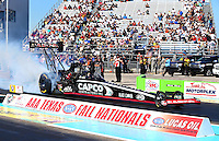 Sept. 22, 2013; Ennis, TX, USA: NHRA top fuel dragster driver Billy Torrence during the Fall Nationals at the Texas Motorplex. Mandatory Credit: Mark J. Rebilas-