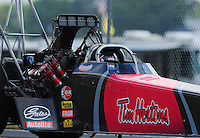 May 14, 2011; Commerce, GA, USA: NHRA top fuel dragster driver Ike Maier during qualifying for the Southern Nationals at Atlanta Dragway. Mandatory Credit: Mark J. Rebilas-