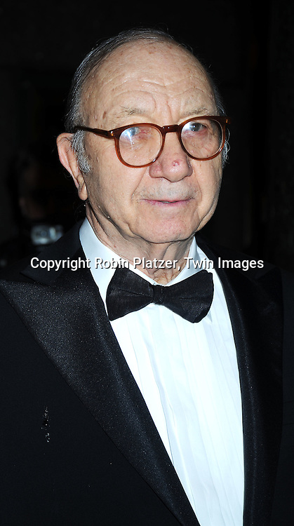 "Neil Simon arriving at The Broadway Opening Night  of the revival of ""Promises, Promises"" on April  25, 2010 at The Broadway Theatre in New York City."