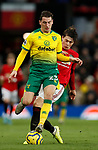 Victor Lindelof of Manchester United tackles Kenny McLean of Norwich City during the Premier League match at Old Trafford, Manchester. Picture date: 11th January 2020. Picture credit should read: James Wilson/Sportimage