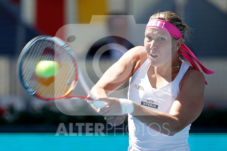 Lucie Hradecka during Madrid Open Tennis 2012 Match.May, 10, 2012(ALTERPHOTOS/ALFAQUI/Acero)