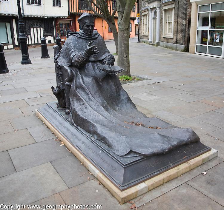 David Annand's sculpture of Cardinal Thomas Wolsey, Curson Plain, Ipswich, Suffolk, England unveiled June 2011