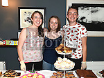 Alix Magliton, Kerri Walsh and Cillian Gregory pictured at the Drogheda Youth Theatre cake sale in the Droichead Arts Centre. Photo:Colin Bell/pressphotos.ie