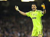 June 3rd 2017, National Stadium of Wales , Wales; UEFA Champions League Final, Juventus FC versus Real Madrid; Gianluigi Buffon (Captain) of Juventus gestures to the crowd during the match