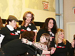"""Actress Martha Byrne was on Broadway in Annie and on March 20, 2008 Martha and several other actresses participated in an Annie Orphan reunion and signed the DVD """"Life After Tomorrow"""" (Annie) after a question and answer, performance and autograph signing at Barnes & Noble, Lincoln Triangle, NYC, NY. (Photo by Sue Coflin/Max Photos"""