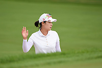 Haeji Kang (KOR) waves to the gallery after a nice trap shot on 1 during the round 3 of the KPMG Women's PGA Championship, Hazeltine National, Chaska, Minnesota, USA. 6/22/2019.<br /> Picture: Golffile | Ken Murray<br /> <br /> <br /> All photo usage must carry mandatory copyright credit (© Golffile | Ken Murray)