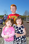 Alanah Deady, Kyle Deady and Aine Murphy at the Easter Egg hunt at Ballyseedy Home and Garden on Sunday,