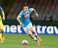 Marek Hamsik  during the  italian serie a soccer match,between SSC Napoli and Chievo Verona      at  the San  Paolo   stadium in Naples  Italy , March 06, 2016<br /> Napoli won  3 - 1