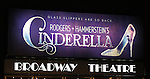 Theatre Marquee for The Broadway cast of 'Rodgers + Hammerstein's Cinderella'  at the Broadway Theatre in New York City on 1/28/2013