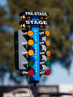 Jan 31, 2018; Chandler, AZ, USA; Detailed view of the NHRA starting line light system aka The Christmas Tree during Nitro Spring Training Testing at Wild Horse Pass Motorsports Park. Mandatory Credit: Mark J. Rebilas-USA TODAY Sports