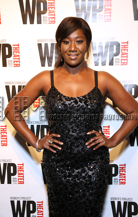 Amber Iman attends the WP Theater's 40th Anniversary Gala -  Women of Achievement Awards at the Edison Hotel on April 15, 2019  in New York City.
