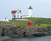 Cape Neddick Lighthouse on Nubble Road, Maine
